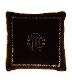 Venezia Cushion x Roberto Cavalli, Harrods, Zip Around Wallet, Cushions, Velvet, Pure Products, Fabric, Brown, Throw Pillows