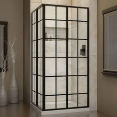 DreamLine French Corner 34-1/2 in. W x 34-1/2 in. D x 72 in. H Sliding Shower Enclosure | Overstock.com Shopping - The Best Deals on Shower Doors
