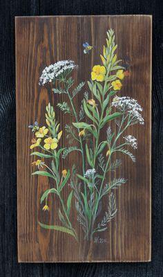 Posts about Klimaty Natury written by Navia Wood Painting Art, Tole Painting, Pallet Painting, Wooden Art, Wood Wall Art, Flower Canvas, Flower Art, Pallette, Garden Mural
