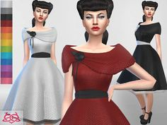 Inspired by my real creations - vintage collection Found in TSR Category 'Sims 4 Female Everyday'