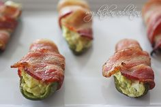Bacon Wrapped Guacamole Poppers | my kitchen addiction