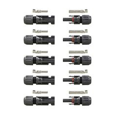 Outdoor Generator Accessories - HQ MC4 MaleFemale Solar Panel Cable Connectors 5 Pairs >>> You can find more details by visiting the image link. (This is an Amazon affiliate link)