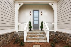 Welcoming Side Entrance for Family and Friends – Madison Model, Lake Haven of Crabapple – via Edward Andrews Homes