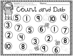 """Students pick a card, count the number of fireflies then use a bingo dabber to """"dab"""" the number to show their answer."""