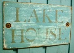 LAKE HOUSE Turquoise and Sandy Taupe Weathered by CastawaysHall. $29.00, via Etsy.