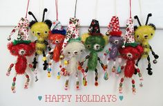 LOVE peng peng's monkeys and these guys are awesome! Ornaments!!!