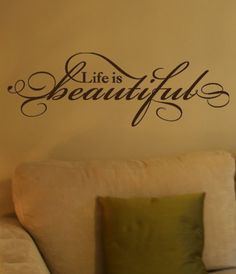 Life Is Beautiful Vinyl Wall Decal by designstudiosigns on Etsy, $29.50