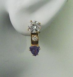 EARRING JACKETS Triangle Genuine Natural Tanzanite by earcuffs, $549.00