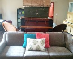 Old family hide-a-bed has newly upholstered