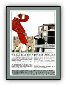 Vintage Poster  1929 HUPMOBILE Advertising by southcoaststudio, $12.00