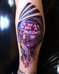 Tatuagem criada por Vinni Tattoo de Porto Alegre. It was a dream.