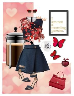 """""""morning glory"""" by queenchelleisboomkoo on Polyvore featuring Moon and Lola, Bodum, See by Chloé, Clover Canyon, Gianvito Rossi, Dolce&Gabbana, Americanflat and Lalique"""