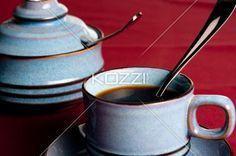 coffee mug and sugar jar - Coffee mug with a sugar jar.