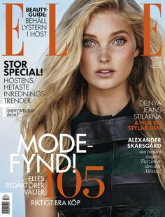 Elsa Hosk || ELLE Sweden (October 2015 Cover)