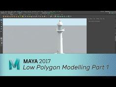 Maya 2017 - Low Polygon Modelling - Part 1 - YouTube