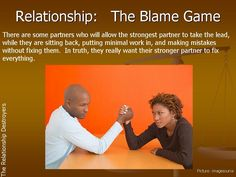 Relationship:  The Blame Game