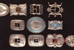 Silver & Turquoise Concho belts, Millicent Roger Museum, Taos New Mexico, Navajo