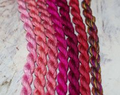Silken Pearl #5 by The Thread Gatherer on Etsy, recommended by Stupendous Stitching, hand dyed