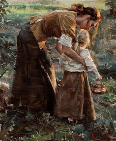 "The last pinner said: ""simply beautiful… / Robert Coombs ""Nurturing Arms"" ""  -- This painting reminds me of my cousin and her daughter, it is a beautiful work, reflective of love."