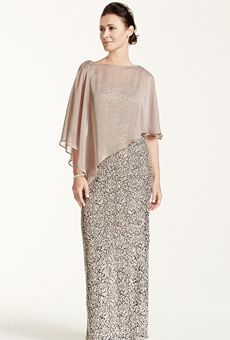 David's Bridal - - Mother of the Bride Dress Sleeveless sequin lace dress with caplet.See More David's Bridal Mothers Dresses Vestidos Mob, Vestidos Plus Size, Plus Size Dresses, Mother Of The Bride Dresses Plus Size, Gowns For Plus Size Women, Evening Dresses Online, Evening Gowns, Dress Online, Evening Party