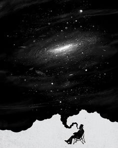 The Art of Negative Space. Illustration by Tang Yau Hoong; Thé Illustration, Illustrations, Tang Yau Hoong, Negative Space Art, Street Art, Hope Art, Psy Art, To Infinity And Beyond, Constellations