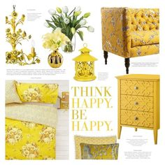 """Think of Happy Thoughts"" by lilith1521 ❤ liked on Polyvore featuring interior, interiors, interior design, home, home decor, interior decorating, Orla Kiely, Canopy Designs, Diane James and Threshold"