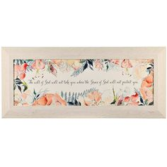 Watercolor Will of God Framed Art Print ($22) ❤ liked on Polyvore featuring home, home decor, wall art, framed floral wall art, floral home decor, watercolor wall art, inspirational framed wall art and motivational wall art