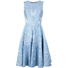 TEMPERLEY LONDON jacquard dress ($2,690) ❤ liked on Polyvore