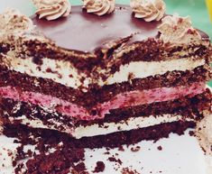 t Fudge Cake, Brownie Cake, Pie Cake, No Bake Cake, Sweets Recipes, Cake Recipes, Rasberry Cake, 18th Birthday Cake, Custard Cake