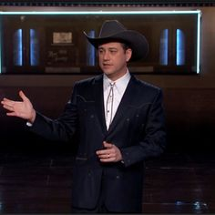 jimmy kimmel suits midnight blue suits march 20 2015 Blue Suit Looks, Blue Suits, Midnight Blue Suit, Cowboy Hats, March, Fashion, Moda, Western Hats, Fasion