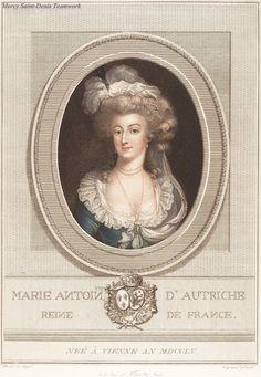 Engraving of Marie Antoinette.