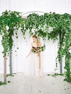 Gorgeous greenery covered arbor: http://www.stylemepretty.com/2016/03/17/ethereal-emerald-inspired-wedding-inspiration/ | Photography: Charla Storey - http://www.charlastorey.com/
