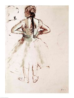 Dancer viewed from the back by Edgar Degas art print