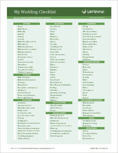 Comprehensive Wedding Planning Checklist | 9.13.14 <3 | Pinterest ...