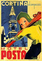 Vintage Italian Posters ~ #illustrator #Italian #vintage #posters ~ Cortina