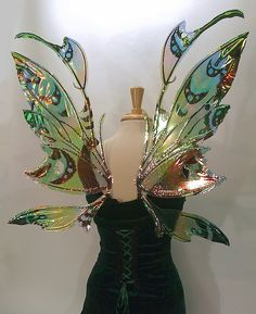 Fairy Wings with Earth Tones would be great for ren fest Larp, Cosplay Costumes, Halloween Costumes, Fairy Costumes, Halloween Karneval, Rock Queen, Fairy Dress, Jolie Photo, Costume Accessories