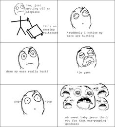 Rage Comics: After being on an airplane