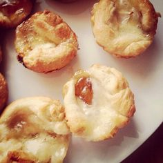 (swoon) Apple Brie Bites made with crescent rolls, Apple jelly and Comox Brie cheese from Natural Pastures in BC Cheese Recipes, Appetizer Recipes, Cooking Recipes, Appetizers, Canadian Cheese, Brie Bites, Apple Jelly, How To Make Cheese, Crescent Rolls