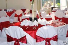 apple red wedding decoration