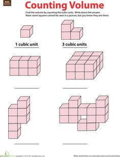 Worksheets Volume Counting Cubes Worksheet worksheets cubes and fifth grade on pinterest geometry counting volume