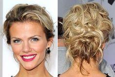 Elegance Updo Hair of Brooklyn Decker as Best Date Night Hairstyles