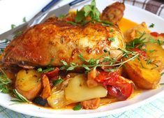 Mariniertes Hähnchen mit Ofengemüse (alles in einem) * Einfache Rezepte