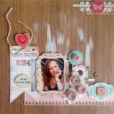 Layout by Ro Philippsen with A Million Memories April kit.  LOVE