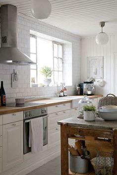 Modern Farmhouse Kitchen with Subway Tile