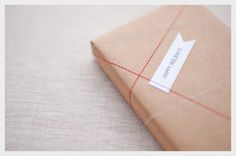 . of paper and things .: paper fix   stitched gift wrapping