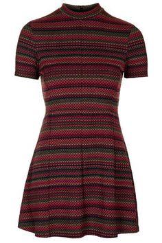 PETITE Exclusive Spot Stripe Flippy Dress