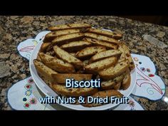 Italian Grandma Makes Biscotti with Nuts & Dried Fruit Fruit Recipes, Sweet Recipes, Cookie Recipes, Dessert Recipes, Pastries Recipes, Desserts, Italian Dishes, Italian Recipes, Biscotti Recipe
