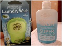 Sea to Summit:  Pocket Laundry Wash and Wilderness Wash
