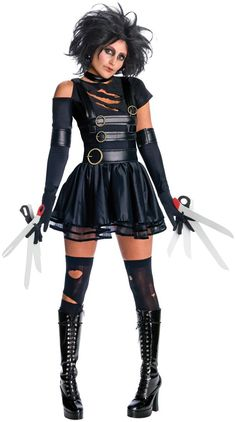 Edward Scissorhands is my favorite movie. I love that there is a girl version of this costume! #Halloween