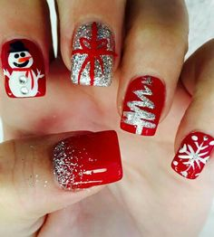 christmas nails 50 Gorgeous And Cute Christmas Square Nail Designs . , christmas nails 50 Gorgeous And Cute Christmas Square Nail Designs For The Coming Holiday - Page 42 of 50 - Chic Hostess. Check more at Holiday Nail Art, Christmas Nail Art Designs, Winter Nail Art, Winter Nail Designs, Winter Nails, Christmas Design, Chrismas Nail Art, Autumn Nails, Spring Nails